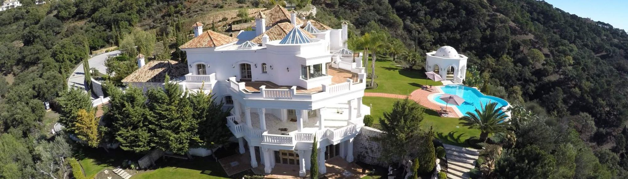 aerial photo of villa for sale in la zagaleta from west 5