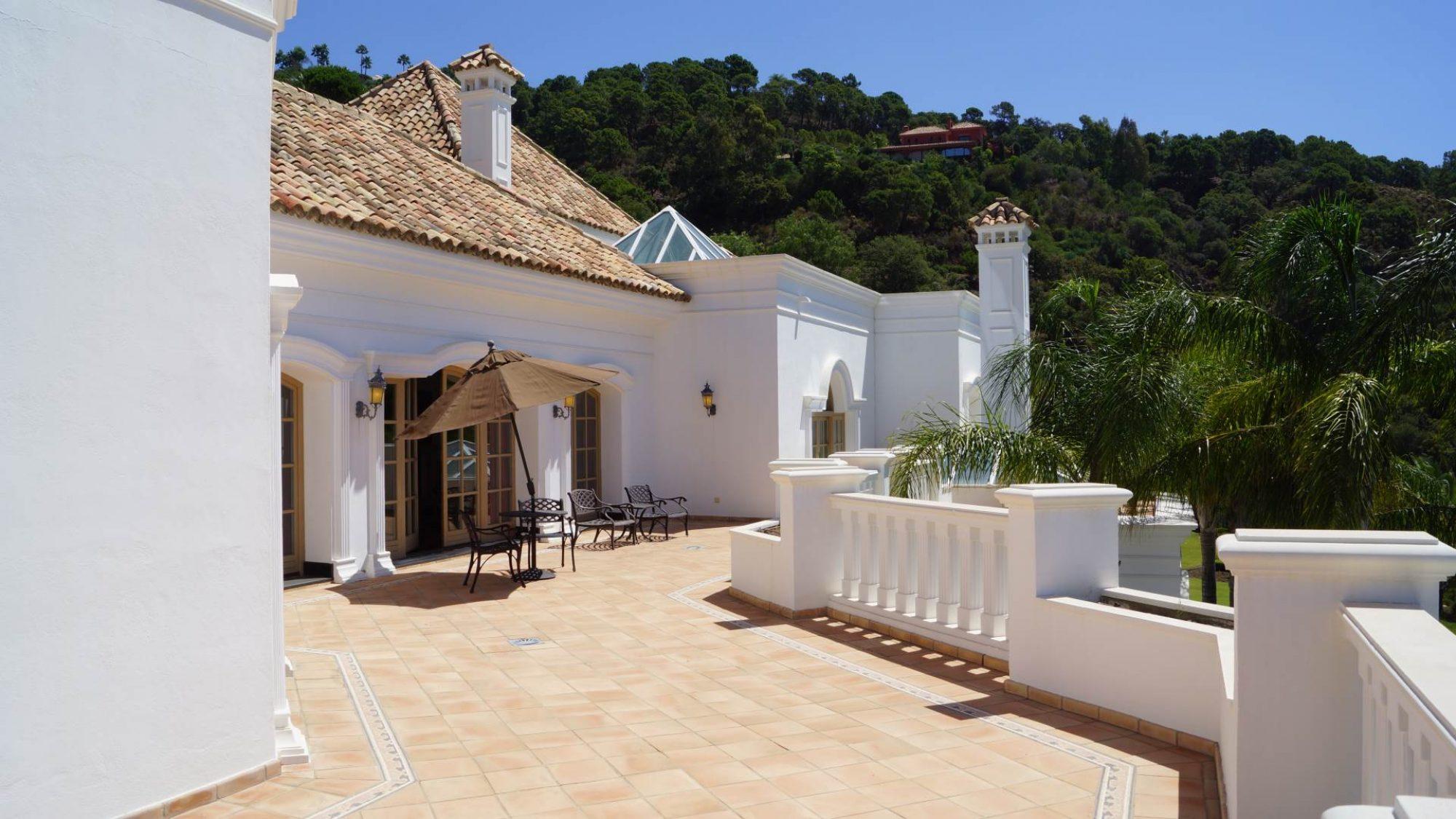 villa in la zagaleta master bedroom terrace